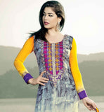 DESIGNER GEORGETTE SALWAR SUIT WTH PRINT WORK AND EMBROIDERY