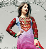NEW LOOK PRINTED GEORGETTE PARTY WEAR SHALWAR SUIT WITH DUPATTA