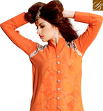 EXQUISITE LONG SHIRT FANCY STYLE DESIGNER KURTI DESIGN RTBLM701