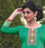 ONLINE SHOPPING NEW PATIALA SALWAR KAMEEZ WITH FLORAL EMBROIDERY