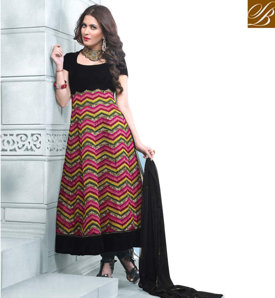DESIGNER GEORGETTE ANARKALI WITH PURE CHIFFON DUPPATA