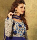 DARK BLUE PARTY WEAR SALWAR SUIT VDFL7013