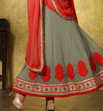 LOVELY GREY PARTY WEAR SALWAR SUIT VDFL7015