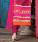 BEAUTIFUL EMBROIDERED PINK SUIT WITH SANTOON SALWAR AND PURE NAZNEEN DUPATTA NEW DRESS PATTERNS SALWAR KAMEEZ FOR INDIAN LADY