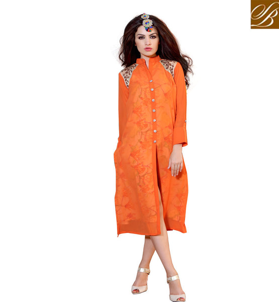 STYLISH BAZAAR EXQUISITE LONG SHIRT FANCY STYLE DESIGNER KURTI DESIGN RTBLM701