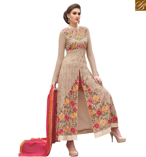 A STYLISH BAZAAR EXCLUSIVELY ENTICING MID SLIT SALWAAR KAMEEZ VDNIM701