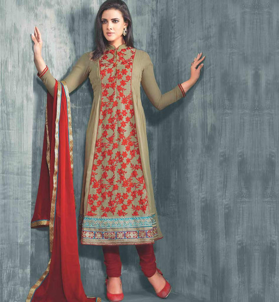 PRETTY BEIGE PARTY WEAR SALWAR SUIT VDAAN7026