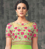 GLAM GREEN PARTY WEAR SALWAR SUIT VDAAN7027