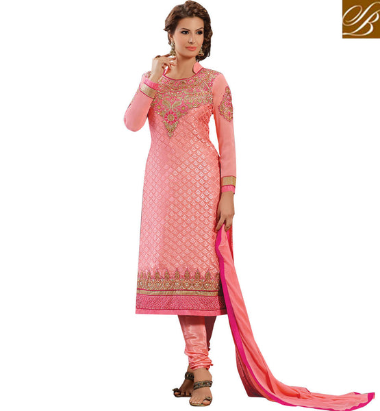 STRAIGHT PATTERN KARACHI STYLE PARTY WEAR SALWAR KAMEEZ SUIT SHOPPING