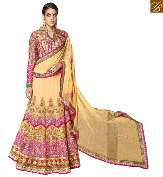 FROM THE HOUSE  OF STYLISH BAZAAR ATTRACTIVE 3 PIECE LEHENGA CHOILI DESIGN VDKHA702