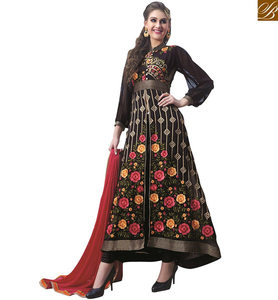 CHARMING HEAVILY EMBROIDERED FLOOR LENGTH SALWAAR KAMEEZ DESIGN VDNIM702