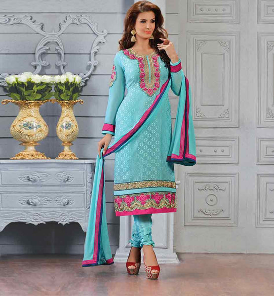 ELEGANT STRAIGHT PATTERN PARTY WEAR SALWAR KAMEEZ SUIT FOR WOMEN