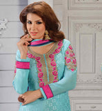 PARTY WEAR STRAIGHT PATTERN SALWAR KAMEEZ WITH ELEGANT DUPATTA