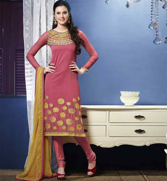 PURE BANARASI CHANDERI FABRIC PARTY WEAR KAMEEZ CHURDIAR SALWAR