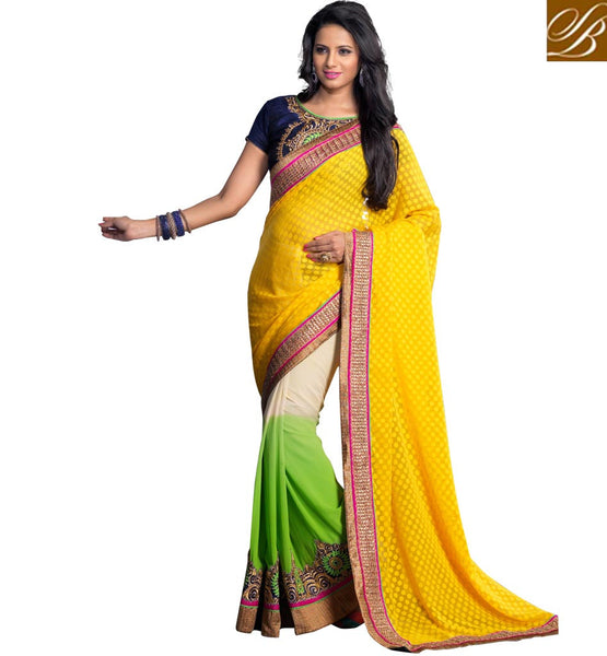 LATEST BOLLYWOOD STYLE PURE GEORGETTE SAREES WITH BLOUSE BUY ONLINE