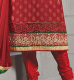 straight kameez with churidar salwar and dupatta