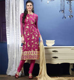BUY TRENDSETTING INDIAN SALWAR KAMEEZ ONLINE PURE CHIFFON DUPATTA