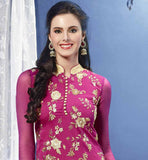 pleasing pink pure banarasi chanderi garment