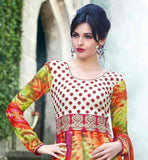 EXCELLENT PRINTED ANARKALI DRESS WITH BRIGHT COLORS