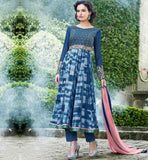 TRENDY GEORGETTE ABSTRACT PRINT ANARKALI SUIT WITH CHIFFON DUPATTA