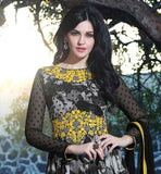 SIMPLY IRRESISTIBLE BLACK PRINTED GEORGETTE PARTY WEAR ANARKALI