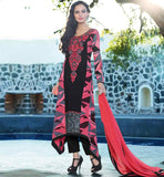 ASYMMETRIC CUT PATTERN PARTY WEAR SALWAR KAMEEZ SUITS FOR WOMEN