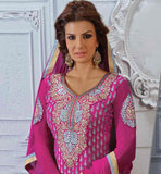 PINK PARTY WEAR SALWAR SUIT WITH NAZNEEN DUPATTA