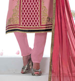 STRAIGHT CUT PARTY WEAR DRESS COMES WITH MATCHING SALWAR AND DUPATTA PAKISTANI DESIGNER SALWAR KAMEEZ HIGH NECK STYLE