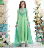 DESIGNER SALWAR SUITS CATALOGUE FOR FESTIVE SEASON PARTY WEAR SALWAR SUIT WITH EMBROIDERED AND PATTERN WORK NECKLINE