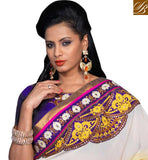 FANTASTIC DUAL COLOR PURE GEORGETTE SAREE WITH BLOUSE