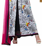PRINTED SALWAR KAMEEZ LATEST DESIGNS OF GOWN TYPE V-NECK AND LONG SLEEVE AT CHAP RATE AND IMAGES FOR DESIGNING IDEAS