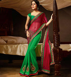 GEORGETTE & CHIFFON CASUAL WEAR SAREE RTAH707