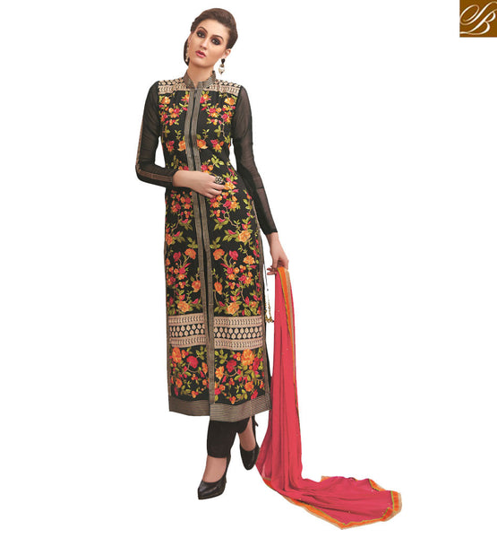 STYLISH BAZAAR  ATTRACTIVE FLORAL DESIGNER SALWAAR KAMEEZ DESIGN VDNIM708