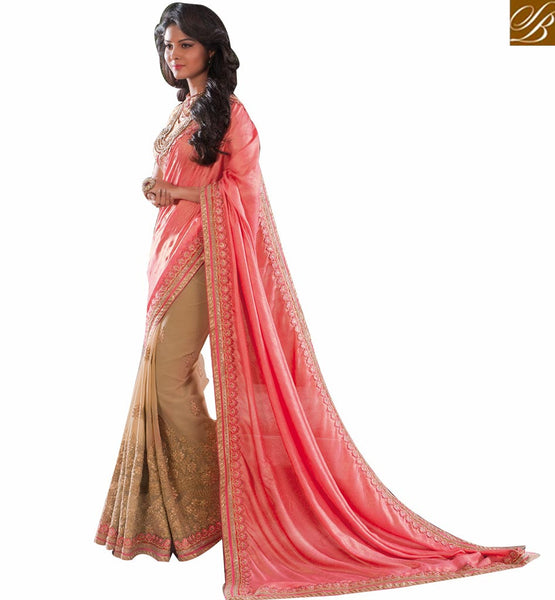 STYLISH BAZAAR WELL DESIGNED EMBROIDERED DESIGNER SAREE RTVID7150