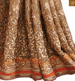 STYLISH BAZAAR PRESENTS ORANGE EMBROIDERED DESIGNER SAREE RTVID7152