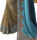 FROM THE HOUSE  OF STYLISH BAZAAR FASHIONABLE EMBROIDERED GEORGETTE SAREE RTVID7154