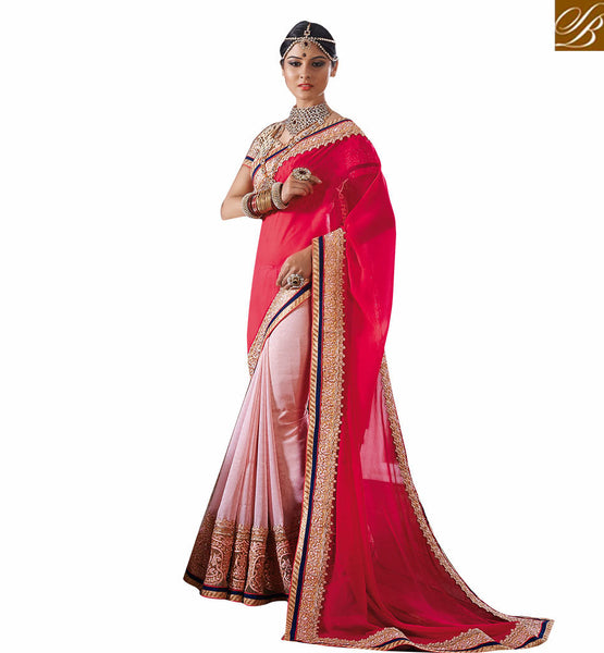 BROUGHT TO YOU BY STYLISH BAZAAR TRENDY EMBROIDERED SARI WITH DESIGNER BLOUSE RTVID7155