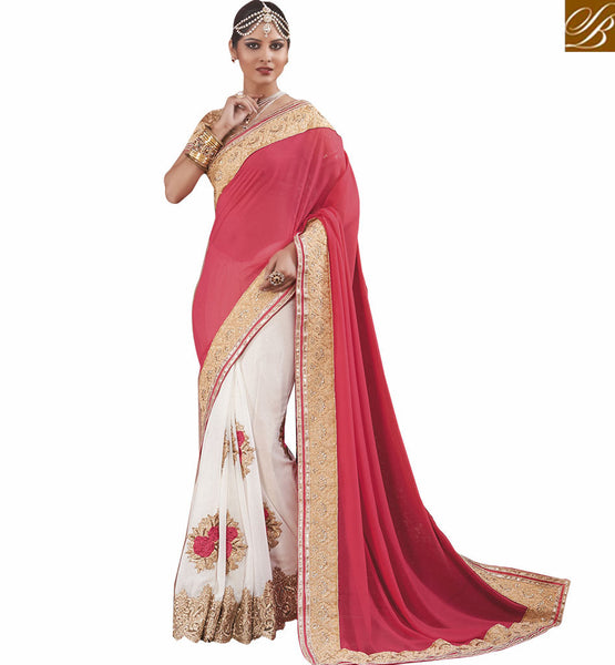 BROUGHT TO YOU BY STYLISH BAZAAR APPEALING SPECIAL SARI TO WEAR AT PARTIES RTVID7157