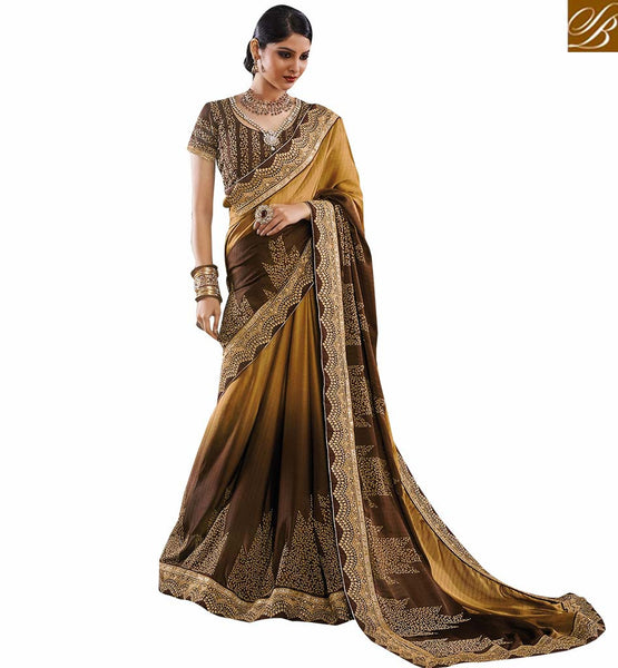 FROM THE HOUSE  OF STYLISH BAZAAR GORGEOUS SARI BLOUSE DESIGN FOR PARTIES RTVID7159