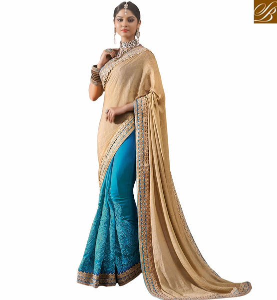ELEGANT SKY BLUE SARI BLOUSE PARTY WEAR RTVID7160 SKY BLUE