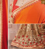 A STYLISH BAZAAR SOPHISTICATED EMBROIDERED SAREE WITH DESIGNER BLOUSE RTVID7161