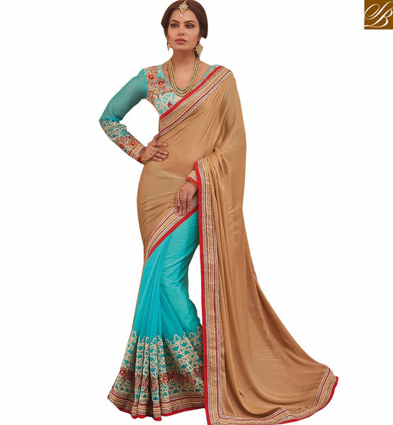 A STYLISH BAZAAR PRESENTATION STUNNING DESIGNER SARI AND BLOUSE FOR ALL OCCASIONS RTHYT7205