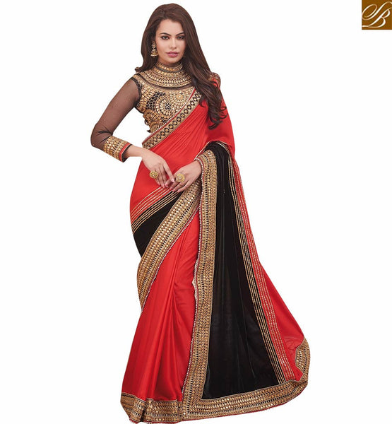 STYLISH BAZAAR REMARKABLY DESIGNED SARI BLOUSE DESIGN FOR HIGH PROFILE PARTIES RTHYT7208