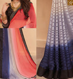 STYLISH BAZAAR PRESENTS APPEALING GEORGETTE SAREE ALONG WITH ART SILK BLOUSE RTHYT7211