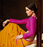 ORANGE GEORGETTE CASUAL WEAR SAREE RTAH722