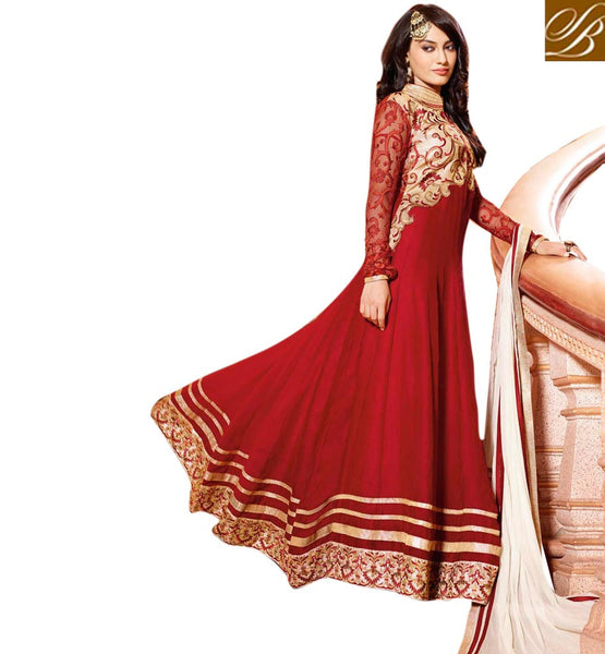 DESIGNER MAROON GEORGETTE ANARKALI SALWAR SUIT AAHG7281 - STYLSIHBAZAAR -  Wedding anarkali shopping online,Wedding anarkali suit online shopping, wedding anarkali dress online shopping, wedding online anarkali dresses shopping,