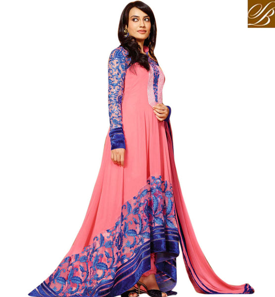 DESIGNER PINK GEORGETTE ANARKALI SALWAR SUIT AAHG7285 - stylishbazaar - latest designer salwar kameez, anarkali salwar kameez  online, designer salwar kameez online, salwar kameez online shopping, designer salwar kameez online, online shopping salwar kameez, shop for salwar kameez online