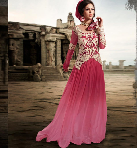 EXCELLENT SUPER FINE GEORGETTE ANARKALI DRESS ETFS7292