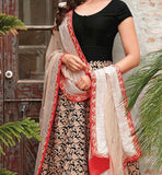 DESIGNER CREAM & BLACK RAKUL PREET SINGH ANARKALI DRESS FLRP7293B