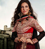 STRIKING SUPER FINE GEORGETTE ANARKALI DRESS ETFS7293